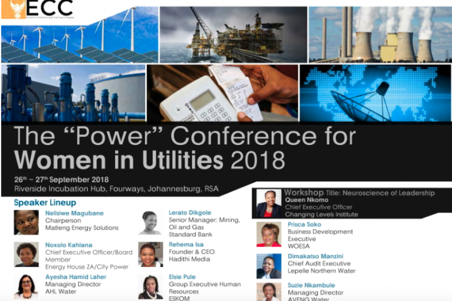 Power conference for Women in Water Utilities 2018 – 26 to 27th September